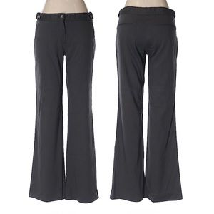Theory Dark Coffee Linen Wide Leg Pants 30 Waist 2